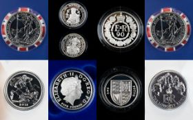 Royal Mint Collection of Silver Proof Coin Sets ( 8 ) Eight In Total.