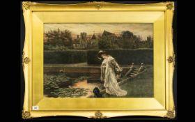 Herbert Thomas Dicksee British ( 1862 - 1942 ) Coloured Etching, Printed In Sepia.