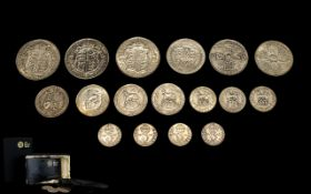 Royal Mint The Historic Silver One Pound Collection, Contains 3 Silver 925 Silver,