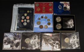 Royal Mint Issued Collection of Coin Sets and Single Coin Sets ( 9 ) Nine Sets In Total.