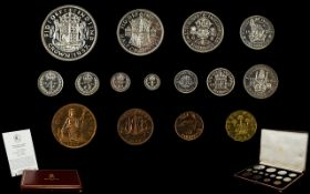 Royal Mint 1937 George Coronation Specimen / Proof Coin Collection Set.
