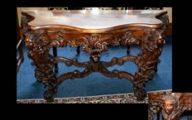 A Large Baroque-style Console/Hall Table.