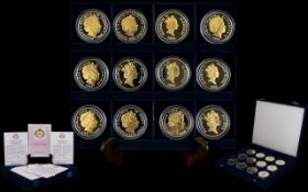The Royal Mint 2006 Queens 80th Birthday Ltd Edition Silver Proof Coin Collection ( 15 ) Silver