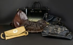 A Collection of Handbags to include some quality names, Jimmy Choo black leather shoulder bag,