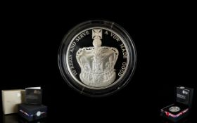 Royal Mint Ltd Edition 60th Anniversary of The Queens Coronation United Kingdom Five Pound Silver