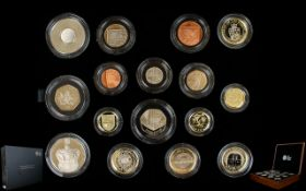 The Royal Mint 2013 United Kingdom Ltd and Numbered Edition Premium Proof Coin Set ( 16 ) Proof