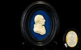Scottish National Portrait Gallery Interest. This Is an Oval Framed Replica, Made In Polyester Resin
