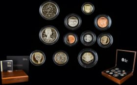Royal Mint 2012 United Kingdom Ltd and Numbered Edition Premium Proof Coin Set ( 11 ) Proof Coins