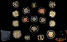 The Royal Mint Scarce 2016 United Kingdom Ltd and Numbered Edition Premium Proof Coin Set ( 17 )