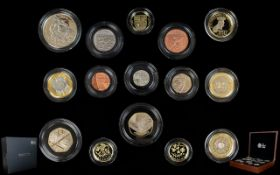 The Royal Mint 2014 United Kingdom Ltd and Numbered Edition Premium Proof Coin Set ( 15 ) Proof