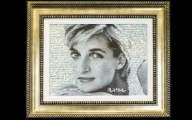 Neil J. Farkas (b. 1952) Limited Edition Signed Seriolithograph 'Lady Di, 2005' Housed in