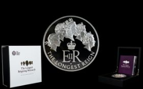 Royal Mint Issue - The Longest Reigning Monarch 2015 United Kingdom Five Ounce Silver Proof Coin -