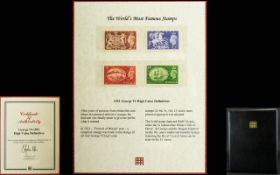 George VI - Set of Four 1951 High Value Definitive's Postage Stamps, One Pound, Ten Shilling,
