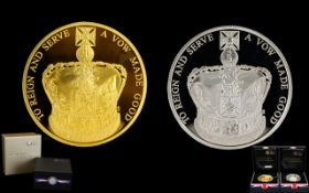 Royal Mint Issue - The 60th Anniversary of The Queens Coronation United Kingdom Five Pound,