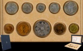 Royal Mint Queen Elizabeth II 1953 Coronation Specimen Proof Coin Set.