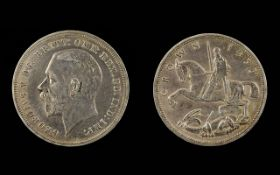 George V Silver Crown - Dated 1935. Good Grade - Please See Photo.