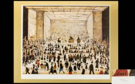 Laurence Stephen Lowry R.A (1887 - 1976) Limited Edition Colour Lithograph Titled 'The Auction