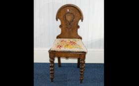 Antique Hall Chair Small oak frame chair of traditional form and small proportions with barley twist