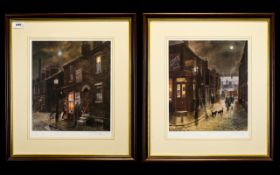 Tom Brown - Pencil Signed Pair of Ltd and Numbered Edition Colour Prints / Lithographs.