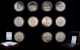 London Mint Office Ltd Edition Admiral Lord Nelson 2005 Collection of ( 11 ) Silver Crowns - Proof