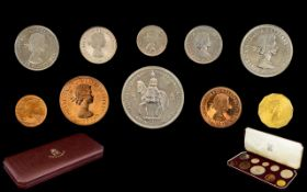 Royal Mint Ltd Edition Elizabeth II 1953 Coronation Issue - Specimen / Proof Coin Set ( 10 ) Coins
