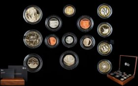 The Royal Mint 2015 United Kingdom Ltd and Numbered Edition Premium Proof Coin Set ( 14 ) Proof
