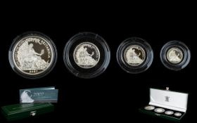 Royal Mint Issue 2007 Britannia Collection Silver Proof 4 ( Four ) Coin Set.