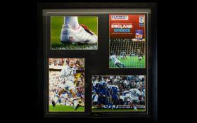 David Beckham Signed And Framed Display.