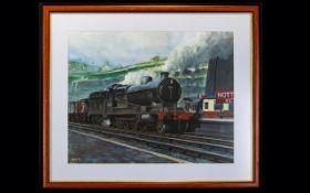 Locomotive Interest Acrylic On Paper Fra