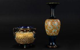 Royal Doulton Slater Vase And Cachepot V
