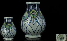 Moorcroft - Small Tube lined Vase - Peac