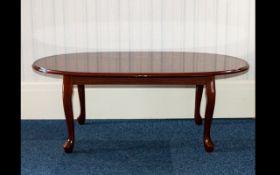 Mahogany Coffee Table Quarter veneered l