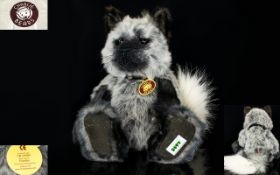 Charlie Bears Handmade Quality Grey and