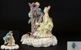 Dresden Style 20th Century Hand Painted