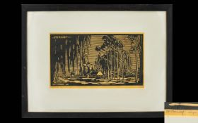 Jacob Hendrik Pierneef (South African 1886-1957) Untitled Artist Signed Linocut Signed and dated in