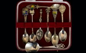 Antique and Vintage Period Collection of Hallmarked Silver Crested Spoons,