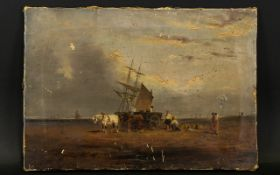 Continental 18th/Early 19th Century Oil On Canvas Nailed to stretcher, unsigned,