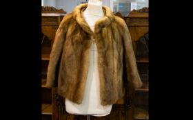 Medium Brown Vintage Mink Short Jacket, fully lined in polysatin.