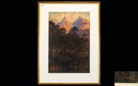 William Mitcheson Timlin (British/South African 1892 -1943) Untitled Chalk Pastel Landscape On