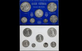 The Jubilee Silver Coinage Of Queen Victoria Great Britain 1887,