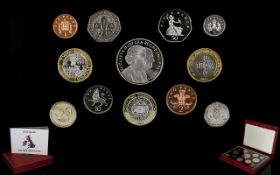 Royal Mint United Kingdom 2007 Proof Coin Collection.