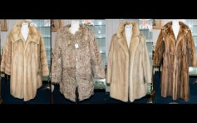 A Collection Of Fur Coats Four in total to include ladies blonde mink 1960's evening jacket with