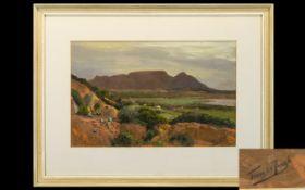 Tinus De Jongh (Dutch 1885 - 1942) Untitled Landscape Chalk Pastel On Bristol Paper Artist signed