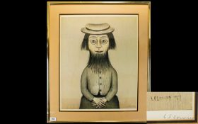 Laurence Stephen Lowry R.A (1887 - 1976) Artist Signed Limited Edition Colour Lithograph Titled '