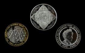 Royal Mint Queen Elizabeth Queen Mother Silver Proof Memorial Crown Denomination 5 pounds,