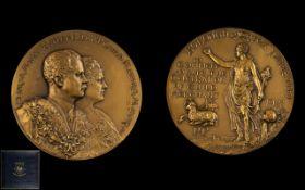 Spink And Son Large Bronze Borough Of Preston Guild Medallion.