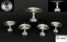George V Nice Quality Set of 5 Sweetmeat Pedestal Dishes,