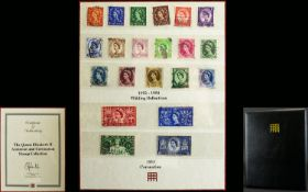 The Queen Elizabeth II Accession and Coronation Stamp Collection. 1952 - 1954 Wilding Definitive's