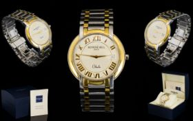 Raymond Weil Geneve Othello TT Gents Steel and Gold Wrist Watch, Comes with Extra Links,
