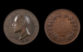 Colonial and Indian Exhibition 1886 Bronze Medallion, Bust of Albert Edward,